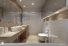 mieszkanie 34m2, Kraków Przewóz - Średnia łazienka, styl nowoczesny - zdjęcie od Projektyw studio