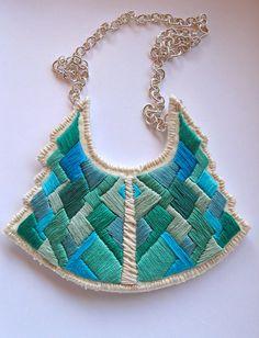 Statement bib necklace art deco geometric by AnAstridEndeavor, $80.00
