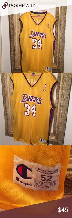 Champion Shaquille O'Neal LA Lakers NBA Jersey Size XXL - excellent condition Champion Shirts