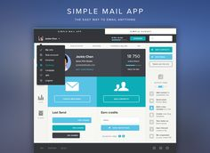 SimpleMail  - The easy way to email anything by Tommy Roussel, via dribble.
