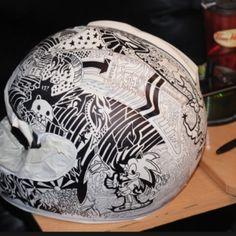 Sharpie Helmets - A permanent marker canvas