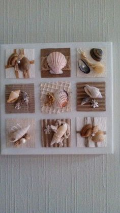Basteln Work with shells. Sea Crafts, Crafts To Make, Home Crafts, Arts And Crafts, Baby Crafts, Seashell Art, Seashell Crafts, Seashell Projects, Minimalist Home Interior