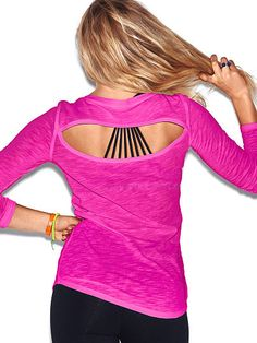 Open-back Long Sleeve PINK