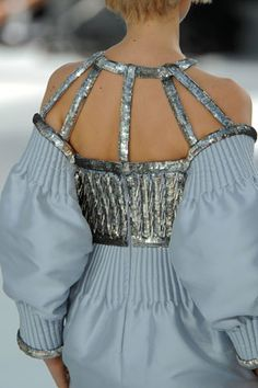 """Chanel F/W 2008-09 Couture - """"Organ Pipes"""" cut out back Unique Style Inspiration Apparel Clothing Design #UNIQUE_WOMENS_FASHION"""
