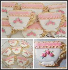 These stunning teacups are brought to you by Pink Apron Confections.