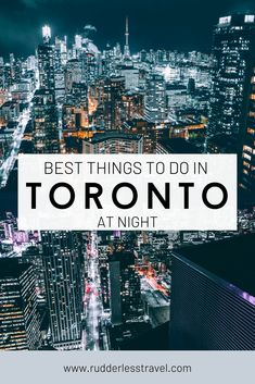 Here are the best things to do in Toronto at night. Prepare to fall in love with Torontos magical night time beauty. #Toronto #Canada Stuff To Do, Things To Do, Good Things, Toronto, Night, Things To Make, Todo List