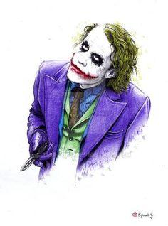 Batman Anniversary Tribute - PP :: Heath Ledger as Joker in 2008 - Art by Robert Bruno Le Joker Batman, Heath Ledger Joker, Joker Art, Joker And Harley Quinn, Superman, Joker Dark Knight, The Dark Knight Trilogy, Joker Images, Joker Pics