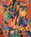 Lanskoy, Andre - L'arque en ciel et l'arlequin, Lyrical Abstraction, Other/Unknown, Abstract