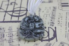 Chinese Dragon and Phoenix Jade Pendant by soyon on Etsy, $16.00