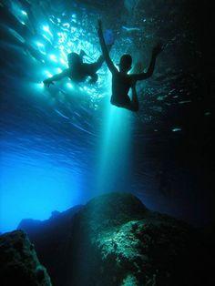 The green cave, Vis island, Croatia