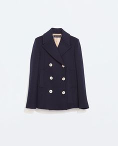 Image 7 of SHORT BUTTONED COAT from Zara