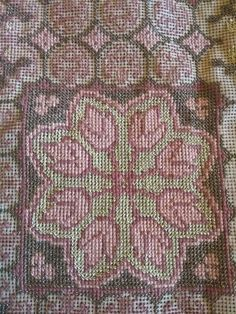 Cross Stitch Patterns, Bohemian Rug, Rugs, Pink, 1, Farmhouse Rugs, Pink Hair, Rug, Roses
