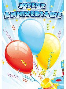 Carte Joyeux Anniversaire Multicolor Pour Envoyer Par La Poste Sur