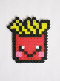 French Fries Kawaii Food Perler Bead