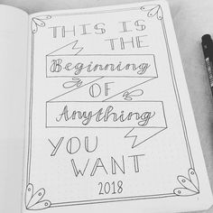 #bulletjournal creators and those who do #handlettering - I'm not sure what colour scheme to give this. Also unsure if that colour scheme should extend to the main pages of my Journal. Hrmmm. Thoughts on a postcard?