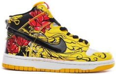 http://www.asneakers4u.com NDH 178 Nike Dunk High Custom Life and Death Red Yellow Black K03125