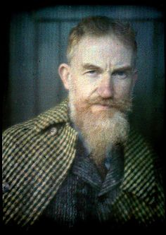 George Bernard Shaw Autochrome by Alvin Langdon Coburn   Flickr by  richard sullivan