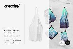 Kitchen Textiles Mockup Set by Creatsy on @creativemarket