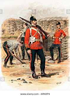 Download this stock image: Royal Engineers Contemporary Victorian print from 1889 of A Sapper In Marching Order - ARNXP4 from Alamy's library of millions of high resolution stock photos, illustrations and vectors.