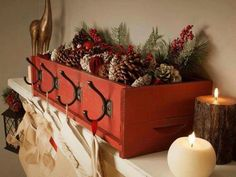 Great way to display stockings.