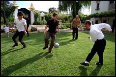 Wow!  Soccer as a wedding festivity!  Different!