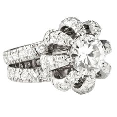 Jean Schlumberger Tiffany  Diamond Tourbillon  Ring | From a unique collection of vintage more rings at http://www.1stdibs.com/jewelry/rings/more-rings/