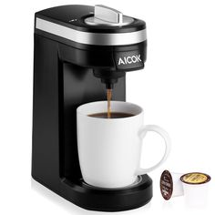 Aicok Single Serve Coffee Maker, Coffee Machine for Most single cup pods #Aic0k