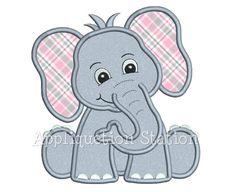 Safari Baby Elephant Applique Machine by AppliquetionStation