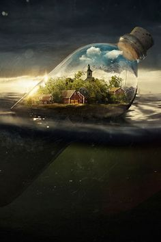Creative Spotlight // 6 Photographer-Artists Who Create Fantasical Landscapes Through Photo Manipulation by @arosecast. Photographer and retoucher Erik Johansson doesn't capture moments, he captures ideas. Using his camera and Photoshop, he brings many photographs together to create unique fantasy landscapes. Definitely check out the videos of his process on his website
