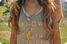 know the truth bamboo tank top
