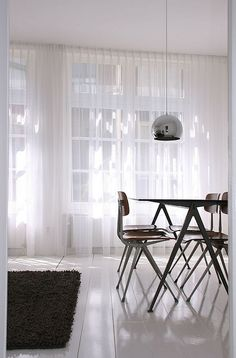 9 Favorites: Floor-to-Ceiling Sheer Summer Curtains Full height sheer white curtains in Gabriels Webb apartment in Amsterdam, Remodelista Curtains Living, Curtains With Blinds, Window Curtains, Ceiling Curtains, Roman Curtains, Short Curtains, Cheap Curtains, Double Curtains, Room Window