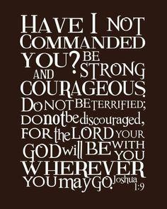 Joshua 1:9 theme text for 2013