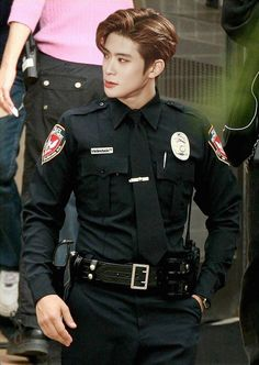 Ok imma go steal some nct merch now. So jaehyun will arrest me. Srsly i would be the baddest bitch in town if he was this hot cop lmao-+
