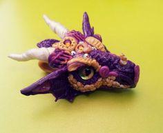 Purple DragonHead Pendant by AstridMakosla.deviantart.com on @deviantART