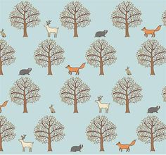 Woodland repeat pattern by Mary Kilvert