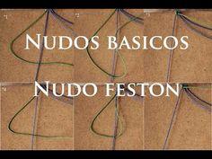 nudos basicos del macrame nudos feston - YouTube