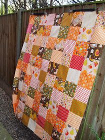 i'm a ginger monkey: super simple patchwork squares quilt tutorial