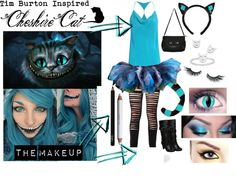 "VERSION III ""Tim Burton Inspired Cheshire Cat Costume"" by karla-cristina on Polyvore"