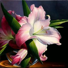lily oil painting - Buscar con Google