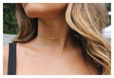 Gold choker/ dainty gold choker/ Minimalist choker/ gold bead choker / Simple choker jewelry/ delicate gold layered
