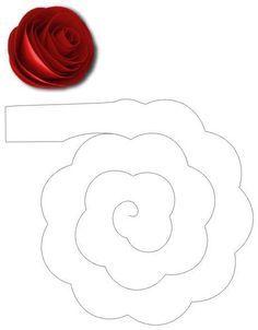 Fleurs En Feutrine Gabarit Paper Flowers Diy Paper Flowers Paper Roses