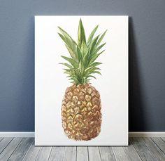 Ananas-Poster Essen drucken Obst print Küche Dekor ACW417