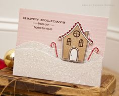 Gingerbread House Card by Ashley Cannon Newell for Papertrey Ink (September 2012)