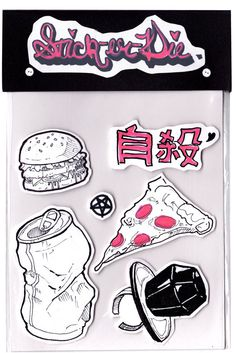 Stick-er-Die Hand Drawn Sticker Packs 1 by Lufaa on Etsy