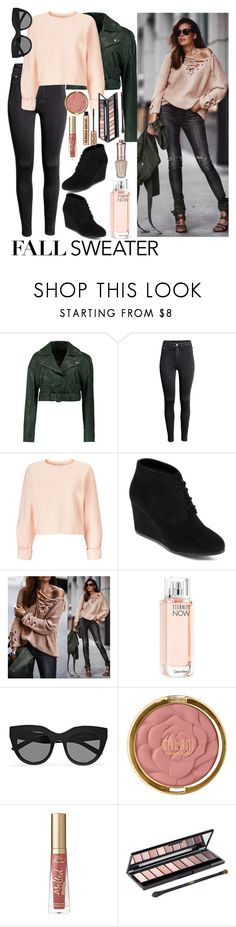 """Fall Sweater🍁"" by hubunch ❤ liked on Polyvore featuring TIBI, H&M, Miss Selfridge, Arizona, Chicwish, Calvin Klein, Le Specs, Milani, Too Faced Cosmetics and L'Oréal Paris"