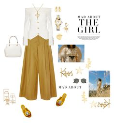 """""""Mad about the girl"""" by mbarbosa ❤ liked on Polyvore featuring Pierre Balmain, Ileana Makri, Marni, Serena & Lily, Botkier, Versace, Nature Girl, Kenneth Jay Lane, DKNY and Rochas"""