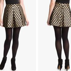 HPVince Camuto Black/Gold High Waisted Skirt! New! Never been worn! Excellent condition! Such a cute skirt!! Size 0 but it runs big. I would recommend this for a size 2 or a small Vince Camuto Skirts