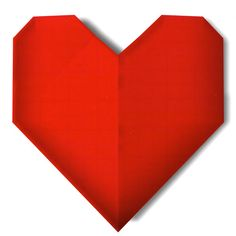 page Instructions to learn how to make a Simple Origami Heart. How To Make Origami, Simple Origami, Valentines Origami, 3d Origami Heart, Origami Models, General Crafts, Make It Simple, Learning, Ideas