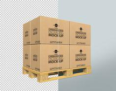 Free Cardboard Box PSD Mockup (8.16 MB)| Free Design Resources | #free #photoshop #mockup #psd #cardboard #box