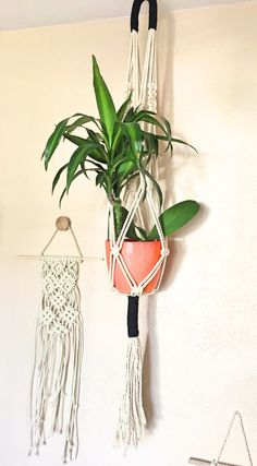Large Macrame Plant Hanger by ThePrimitiveGem on Etsy